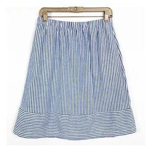 J crew A line linen striped skirt size 4